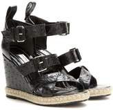 Balenciaga Rope Track leather wedge sandals