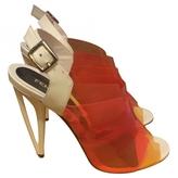 Fendi Orange Sandals