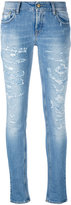 Cycle distressed skinny jeans