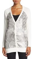 Haute Hippie Embellished V-Neck Cardigan