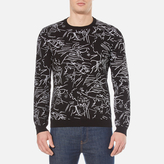 Kenzo All Over Jaquard Knitted Jumper Black