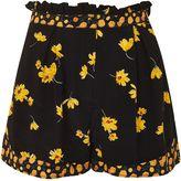 Topshop Mix Floral Frill Flip Shorts