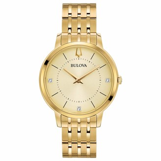 Bulova Women's Analogue Quartz Watch with Gold-Tone Stainless Steel Strap 97P123
