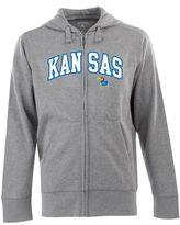 Antigua Men's Kansas Jayhawks Signature Zip Front Fleece Hoodie