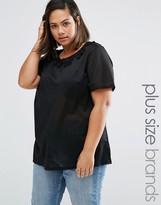 Junarose Plus Minho T-Shirt With Crochet Collar