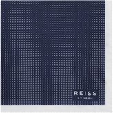 Reiss Reiss Nou - Silk Dotted Pocket Square In Blue, Mens