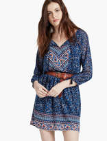 Lucky Brand Woodblock Peasant Dress