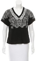 Maje Embroidered Linen Top w/ Tags