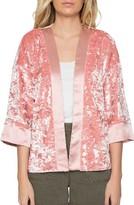 Willow & Clay Women's Velvet Kimono Jacket