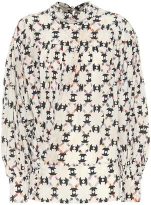 Isabel Marant Brandi printed stretch-silk top