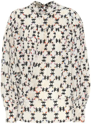 Isabel Marant Brandi printed stretch-silk top