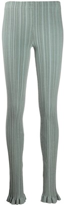 Acne Studios Skinny Fit Ribbed Trousers
