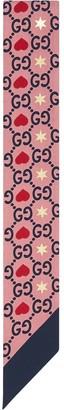 Gucci Graphic Print Monogram Scarf
