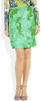 Michael Van Der Ham Printed silk-organza mini skirt