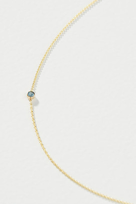 Maya Brenner 14K Yellow Gold Asymmetrical Birthstone Necklace By in Green Size ALL