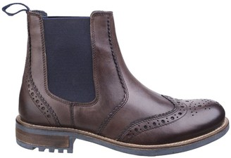 Cotswold Cirencester Leather Brogue Boots - Brown