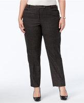 Calvin Klein Plus Size Plaid Trousers