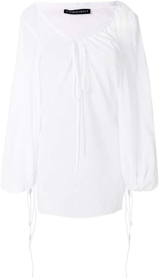 Y/Project Y / Project drawstring neck blouse