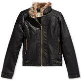 Jessica Simpson Faux-Leather Jacket, Big Girls (7-16)