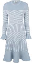 Fendi mesh effect dress - women - Polyester/Viscose - 42