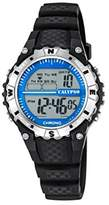 Calypso Unisex Digital Watch with LCD Dial Digital Display and Black Plastic Strap K5684/1