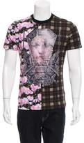 Givenchy Tartan Floral Madonna T-Shirt