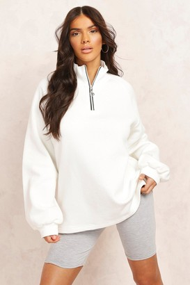 boohoo Mix and Match Half Zip Sweater
