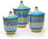 Certified International Tapas by Joyce Shelton Studios 3-pc. Kitchen Canister Set