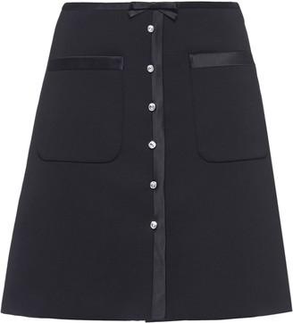 Miu Miu Jewelled Button Mini Skirt