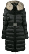 Moncler Faux fur collar puffer coat