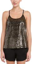 Julie Brown Eloise Black & Gold Sequin Top