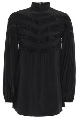 Zimmermann Lace-trimmed Silk Crepe De Chine Blouse