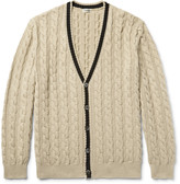 Camoshita - Cable-knit Cotton Cardigan