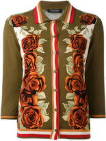 Twin-Set rose detail cardigan - women - Cotton/Viscose - M