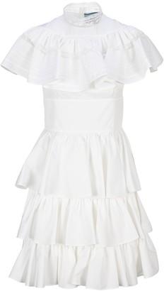 Prada Ruffled Tiered Dress