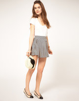 A|Wear Skirt With Heart Print