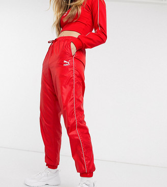 Puma high waisted sweatpants in red exclusive to ASOS