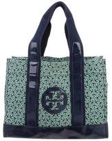 Tory Burch Leather-Trimmed Printed Tote