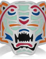 Kenzo Tiger enameled silver ring
