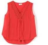 Molly Bracken Sleeveless Blouse with V Neckline