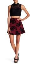 Trixxi Lace Flocked Velvet Floral Embroidered Scuba 2-Piece Set