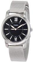 Timex Women's T2N680 Elevated Classics Dress Uptown Chic Black Dial Mesh Bracelet Watch