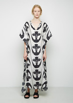 Zero Maria Cornejo Long Printed Sil Dress