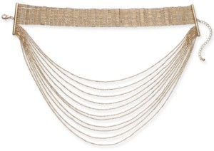 "Thalia Sodi Gold-Tone Choker Layer Necklace, 12"" + 3"" extender, Created for Macy's"