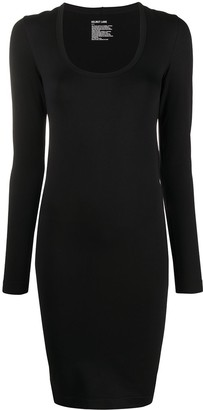 Helmut Lang Long-Sleeve Fitted Mini Dress