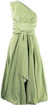 Tibi One-Shoulder Midi Dress