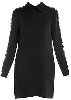 Fendi Women's Embroidered Detail Stretch Cady Dress