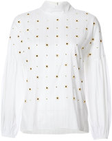 Tibi beaded blouse - women - Cotton/Polyester/Polyimide - XS