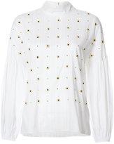 Tibi beaded blouse - women - Cotton/Polyimide/Polyester - XS