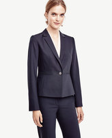 Ann Taylor Petite Tropical Wool One Button Jacket
